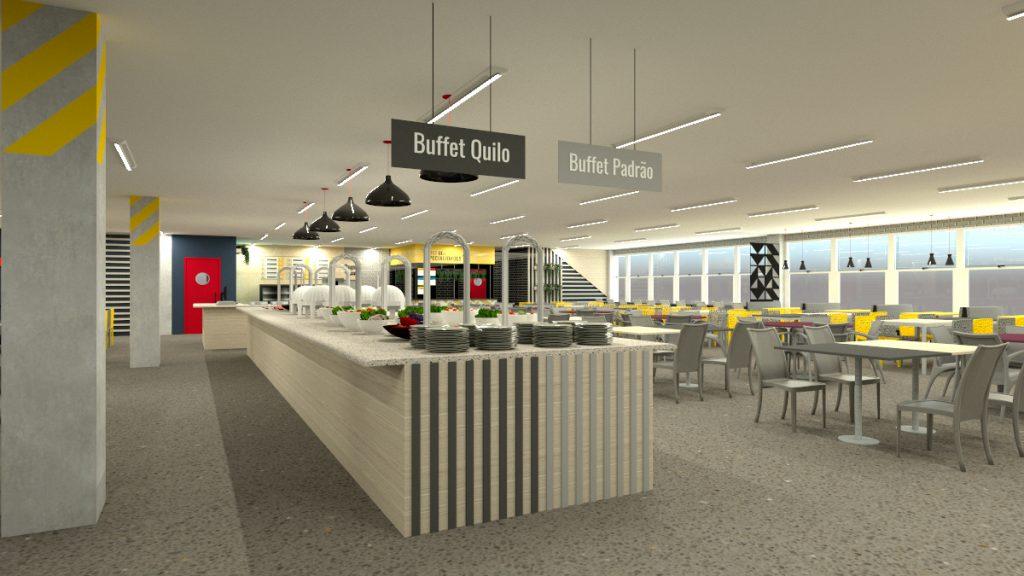 Arquitetura para restaurante 500 lugares