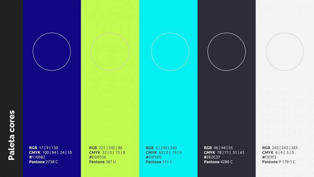 Paleta de cores criada para Mastertreat